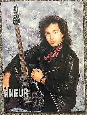JOE SATRIANI - 1990 full page French magazine poster