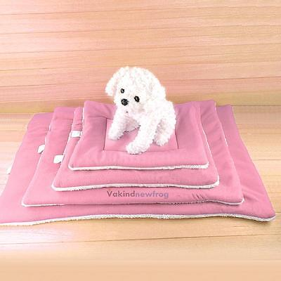Cotton Pet Bed Cushion Mat Pad Dog Cat Cage Kennel Crate Warm Cozy Soft House
