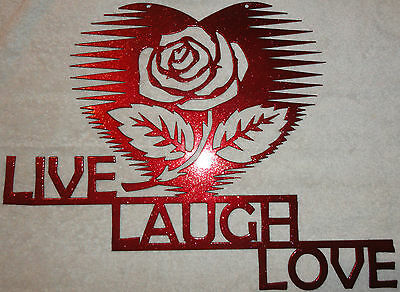 Live, Laugh, Love with Heart Metal Wall Art Home Decor
