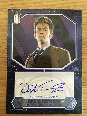 Topps Doctor Who 2015 Blue Autograph David Tennant as The Tenth Doctor 50/50