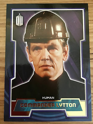 Topps Doctor Who 2015 Gold 1/1 Base Card 126 Commander Lytton