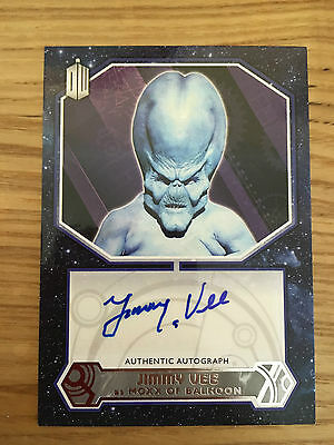 Topps Doctor Who 2015 Autograph Jimmy Vee as Moxx of Balhoon