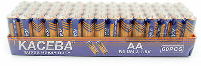 Lot of 60 AA Batteries EXTRA Heavy Duty 1.5 V Wholesale Lot New Fresh