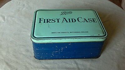 Boots Vintage First Aid Tin And Contents Nottingham England