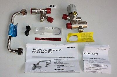 "HONEYWELL AMX300TLF Lead Free Mixing Valve Kit w/ 8"" Connector - NEW"
