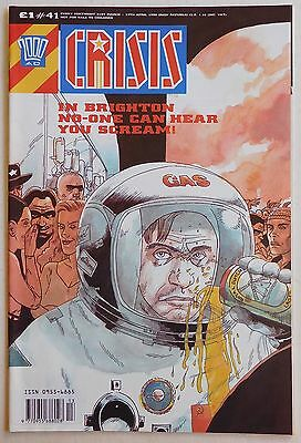 CRISIS COMIC #41 - 1990 - 2000 AD Spin off