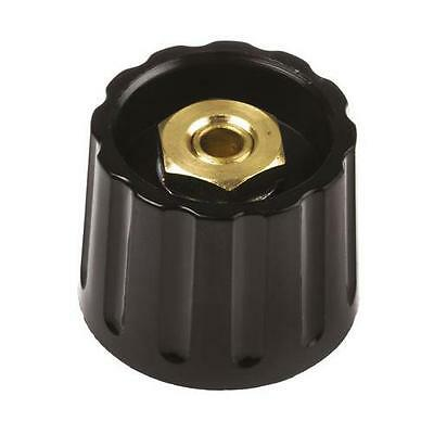 1 x RS Pro Collet Knob, Body: Black, Dia. 21.3mm, 6.4mm Shaft