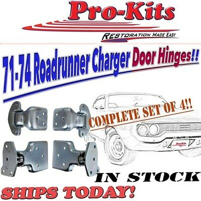 Mopar 71 72 73 74 Roadrunner Charger Satellite Upper Lower Door Hinge Set 4pcs.