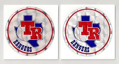 Texas Rangers Early 1980s MLB Prismatic Decal Stickers Lot of (2)