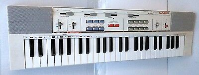 Vtg Casio Tone MT-200 Keyboard White 49 Key Portable Electronic Piano Synth RCA