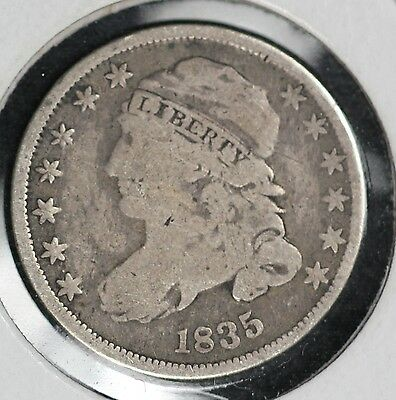 1835 Capped Bust Dime - Very Good Condition
