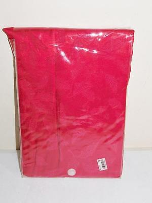 """Lenox Christmas / Holiday Cotton Table Linens Red 60""""X84"""" Oval NWT"""