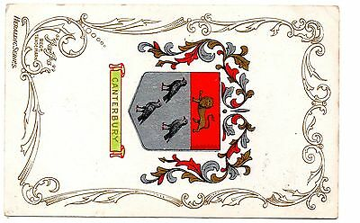Postcard - JA JA HERALDIC SERIES CANTERBURY COAT OF ARMS  1905