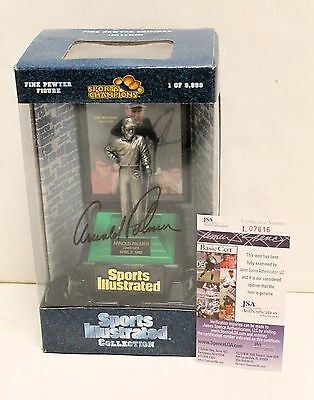 Arnold Palmer Double Signed Figure Pewter Sports Illustrated Collection  JSA COA