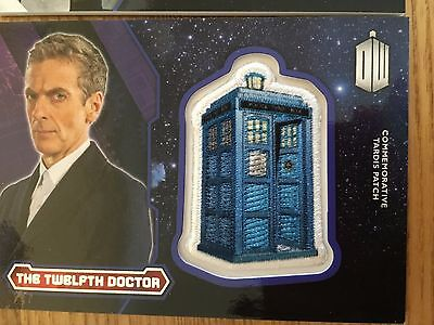 Topps Doctor Who 2015 Silver Tardis Patch Card The Twelth Doctor