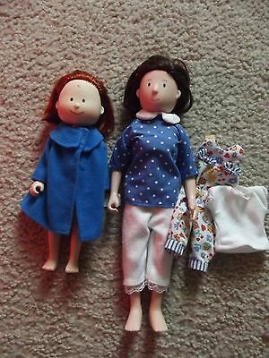 TWO Madeline Dolls & EXTRA Clothes. Eden Toys