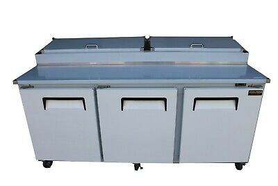 """New 3 Door Refrigerated Pizza Prep Table 84"""""""