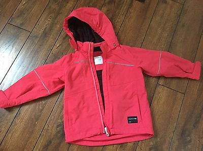 Polarn O Pyret Girls Pink Warm Winter Coat Age 4-5