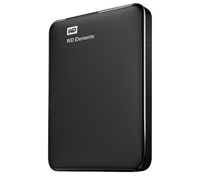 """WESTERN DIGITAL Disque dur externe portable 2.5"""" WD Elements 1 To Neuf"""