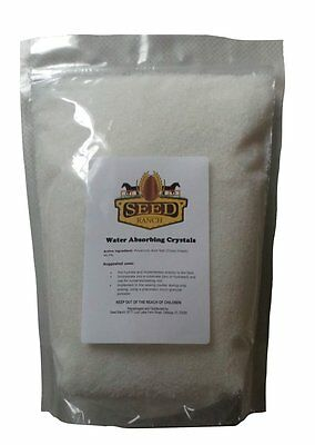 Soil Moist Water Absorbing Polymer Crystals - 1 Lb.