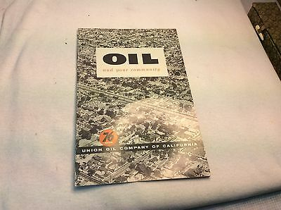 Union 76 Phamplet  Oil And Your Community 1950's Era
