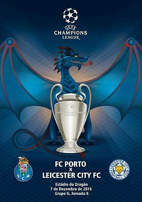 PROGRAMME PORTO v LEICESTER CITY 2016/17 CHAMPIONS LEAGUE. Unofficial