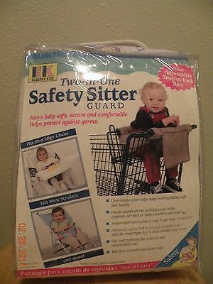 EK - Two-in-One Safety Sitter Guard - Shopping Cart - High Chair - Stroller