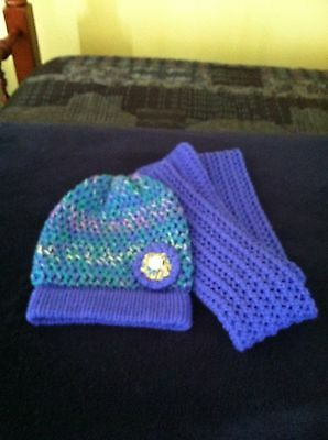 Handmade Crochet Slouchy Hat And Scarf Set