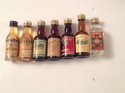 Mignon Miniature Liquore Stock Lotto Da 7 Liqueur Bottle