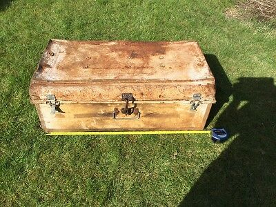 Shabby chic Vintage Antique Indian Travelling Suitcase Case Box Chest Display