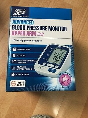 Boots Pharmaceutical Advanced Blood Pressure Monitor Upper Arm Unit