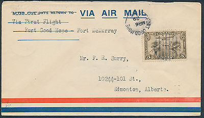 1929 AAMC #2917e, Fort Good Hope to Fort McMurray Flight