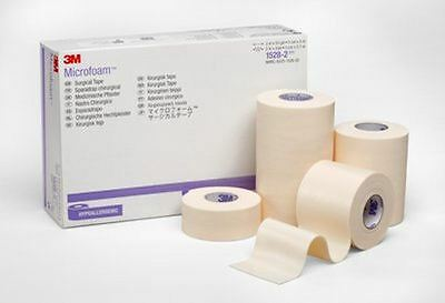 3M Microfoam Surgical Tape, Hypoallergenic, 2.5cm x 5m, Pack of 1