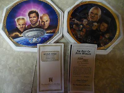 2 Star Trek Plates, The  Ultimate Confrontation  & The Best Of Both Worlds