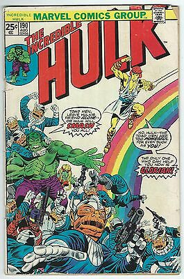 The Incredible Hulk No.190 August 1975 Marvel Comics Bronze Age Issue Fair-Good