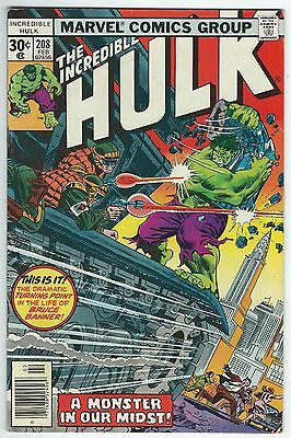 The Incredible Hulk No.208 February 1977 Marvel Comics Bronze Age Issue Good