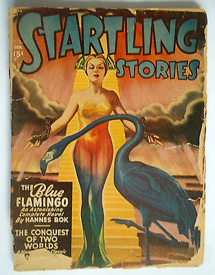1948 Startling Stories Comic Book Includes Complete Novel The Blue Flamingo RARE