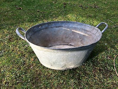 Vintage Galvanized Small Tin Bath.christmas Champagne , Beer Cooler Ice Bucket