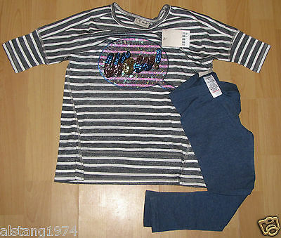 BNWT  Girls NEXT Size 4-5 Years (104-110cm)  Longline Top and Leggings Set
