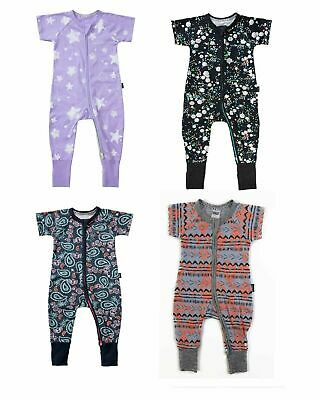 Bonds Baby Short Sleeve Zip Wondersuit Zippy Summer Bomb Byeka Size 0000-3