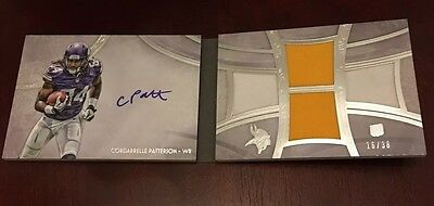 2013 Topps Five Star Cordarrelle Patterson Patch Auto Book /38 Rookie Card NFL