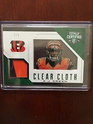 2014 Panini Totally Certified AJ Green Patch /5 Football Card Bengals NFL