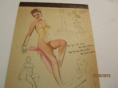1947 August Daily Calendar Notebook W/Pinup Girl Service Beacon Mansfield, Ohio