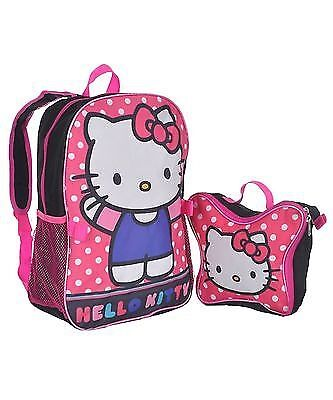 """Hello Kitty """"Polka Dot Party"""" Backpack with Lunchbox"""