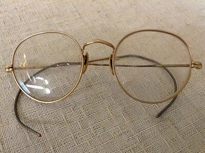 FREE SHIPPING!! VINTAGE ANTIQUE 1/10 12k YELLOW GOLD FILLED EYEGLASSES
