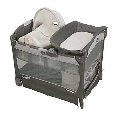 Graco Pack N Play PLAYARD, Cuddle Cove Removable Seat BABY PLAYPEN, Glacier