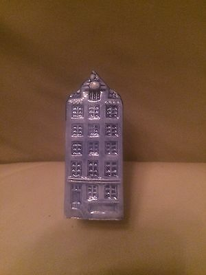 WGB Crown Hand Painted Delft Color Canal House Salt Shaker