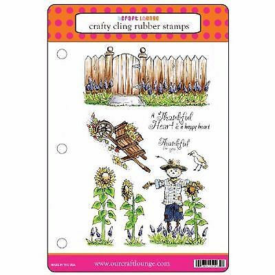 REDUCED TO CLEAR - Craft Lounge Autumn Garden Rubber Stamp Set of 8 Stamps