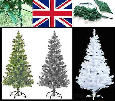 Premium Artificial Christmas Tree Green ,white Traditional Xmas Decorations Pine