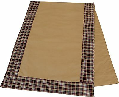 """Patriotic Tan Table Runner With Red, White And Blue Border 13"""" X 36"""""""